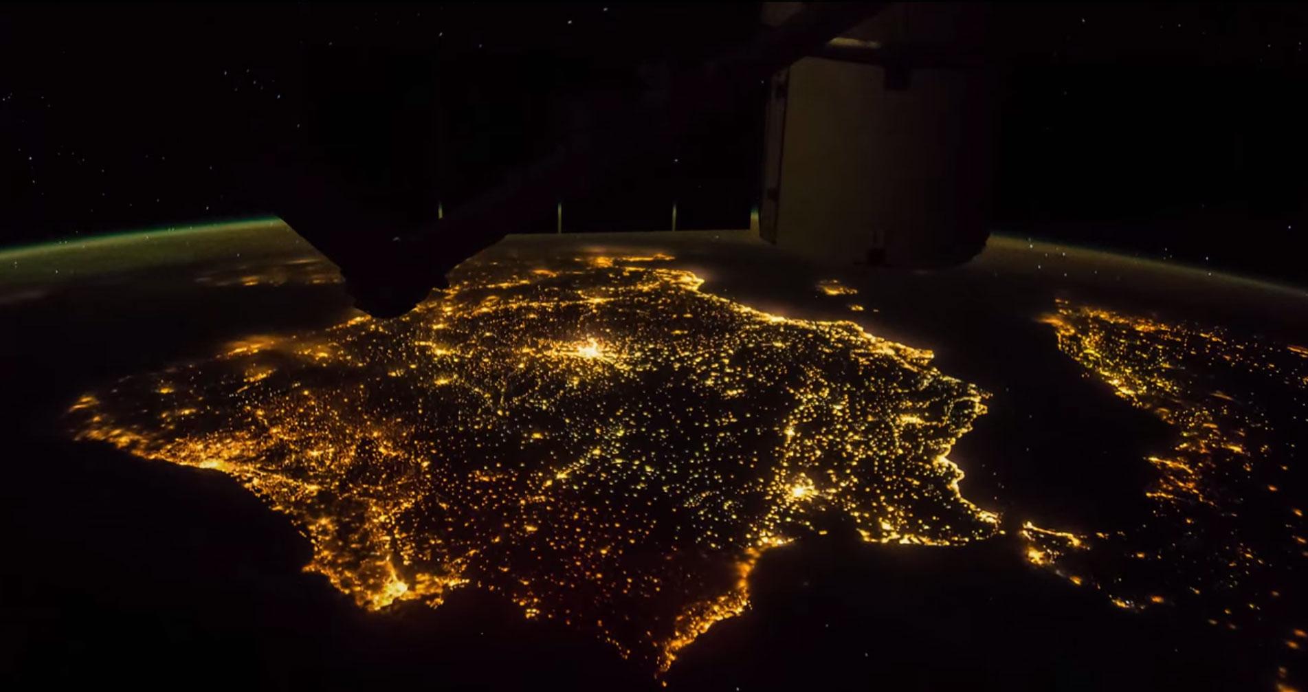 Europa desde la estación espacial (vídeo)