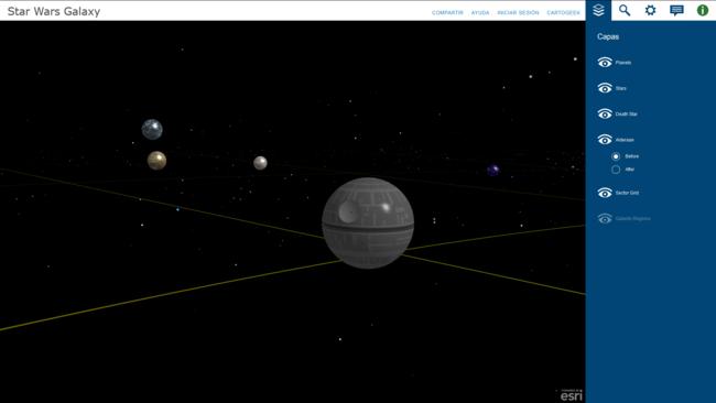 Toda la galaxia de Star Wars en un sólo mapa en 3D. La imagen de la semana