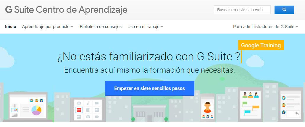 Centro de aprendizaje de Google Suite