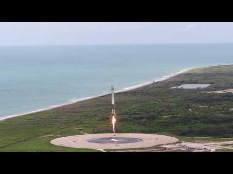 Falcon 9 aterrizando.